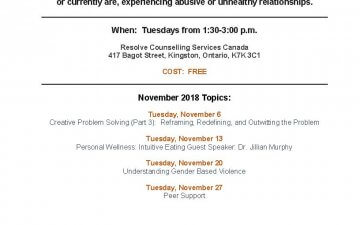 Women Supporting Women monthly schedule – November