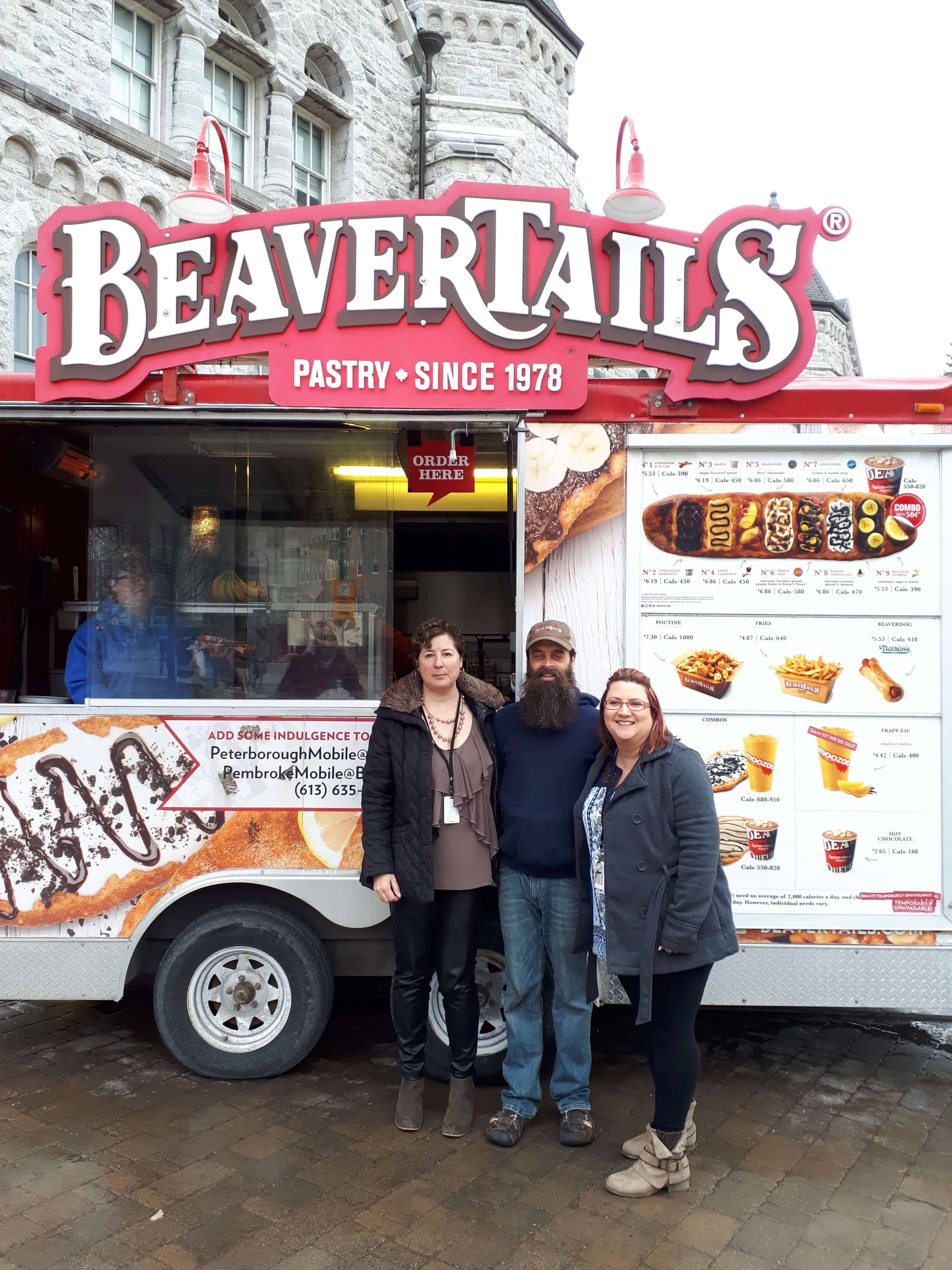 """Anne Gauthier (Resolve), Nick Jackson (Beavertails) and Sue Silva (Resolve)"