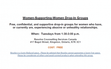 Women-Supporting-Women Drop-In Group