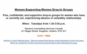 Women Supporting Women monthly schedule for September