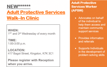 NEW Adult Protective Services Walk-In Clinic
