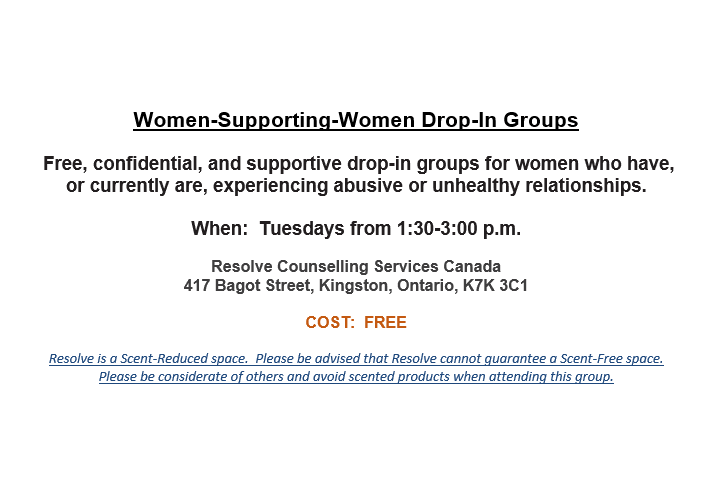 Women Supporting Women monthly schedule for October