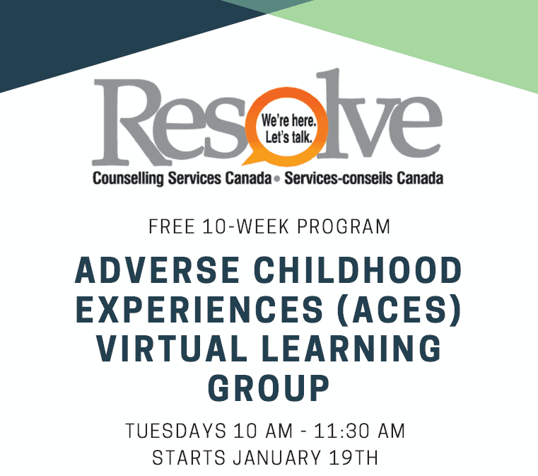 Adverse childhood experiences (aces) virtual learning group FREE 10-week program