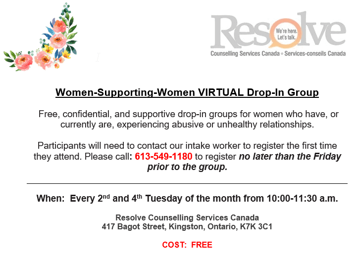 Women-Supporting-Women VIRTUAL Drop-In Group